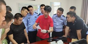 Neogene Was Invited to Tongchuan Public Security Bureau to Hold a Training Class of using Hair Drug Detector